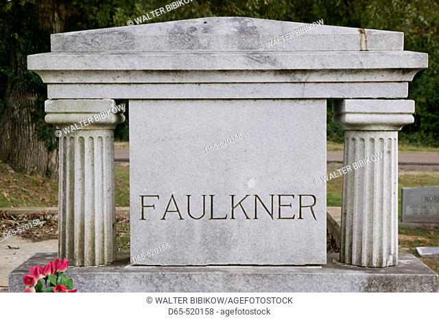 Gravesite of William Faulkner, writer. Oxford. Mississippi. USA