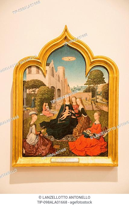 Europe, Portugal, Lisbon, Estrela, National Museum of Ancient Art, Mystic Marriage of St.Catherine, Master of the Embroidered Foliage