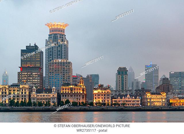 China, Shanghai, The Bund and the Shanghai Westin Hotel
