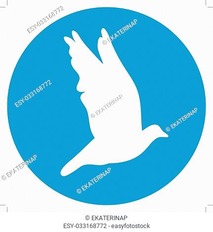 Silhouettes of white doves flying Stock Photos and Images