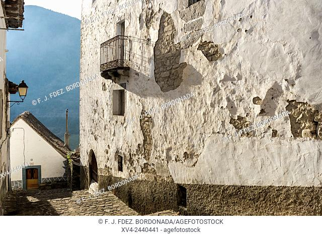 Typical house in Anso Village, Huesca Pyrenees, Aragon, Spain