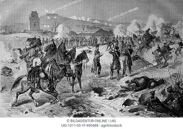 Lost battle at mont valerien outside paris on 19 january 1871, illustrated war history, german - french war 1870-1871