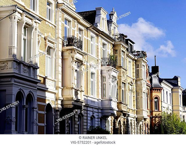 GERMANY : Town houses in the inner city of Bonn , 19.04.2017 - Bonn, Northrhine-Westfalia, Germany, 19/04/2017