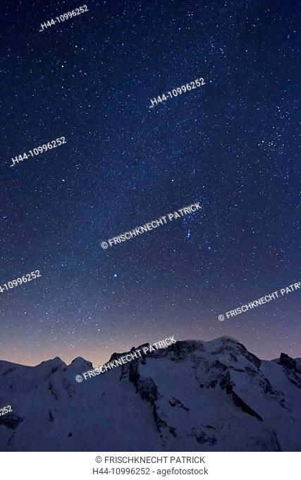 Breithorn and Small Matterhorn, Valais, Switzerland
