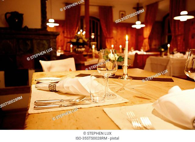Close up of ornate table setting