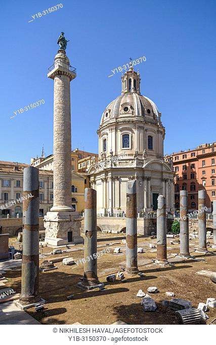 Trajan's Column in Trajan's Forum, Rome, Italy