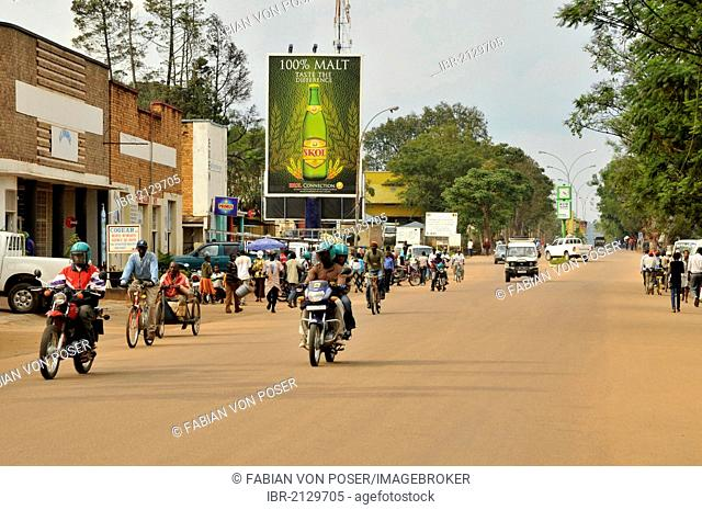 Street scene in Butare, Rwanda, Africa