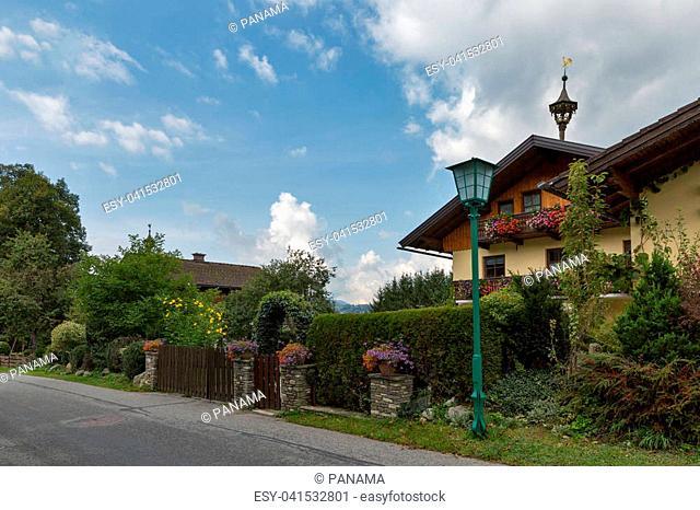 Austrian Alps rural landscape. Styria Austria