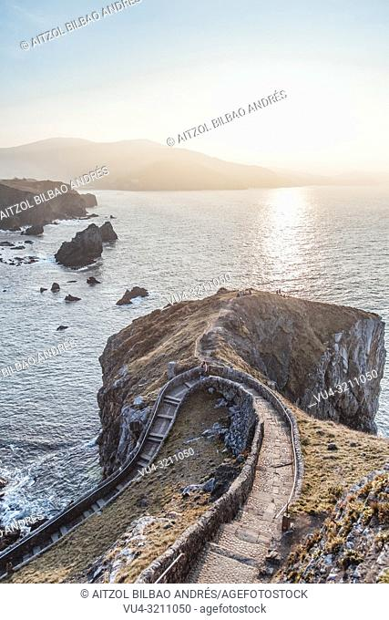 Epic sunset at San Juan de Gaztelugatxe, this is a scenary from Game of thrones, the place in the tv show is called dragon stone
