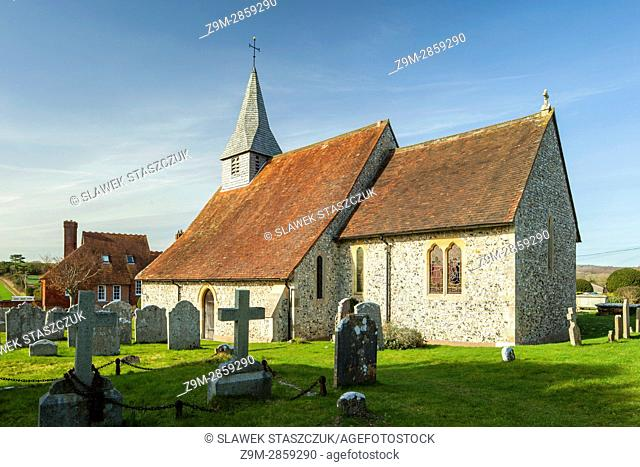 St Margaret's church in the village of Eartham, West Sussex, England