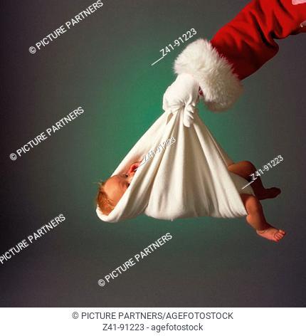 Santa delivering baby