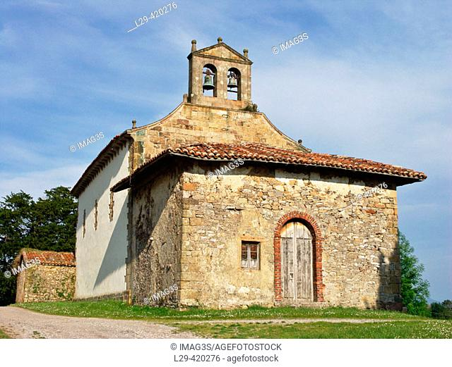 Romanesque church of Santa María de Narzana, Sariego. Asturias, Spain