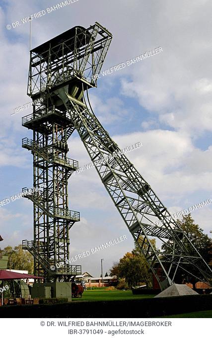 Shaft tower, disused coal mine, Zollern II/IV Colliery, Boevinghausen, Dortmund, North Rhine-Westphalia, Germany