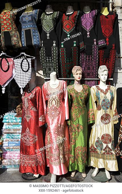 8fe8cbb35b38 Mannequins displaying islamic clothes in a shop in Amman