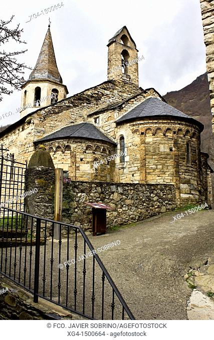 Romanesque church of Santa Eulalia - Unha - Valle de Aran - Pyrenees - Lleida Province - Catalonia - Spain