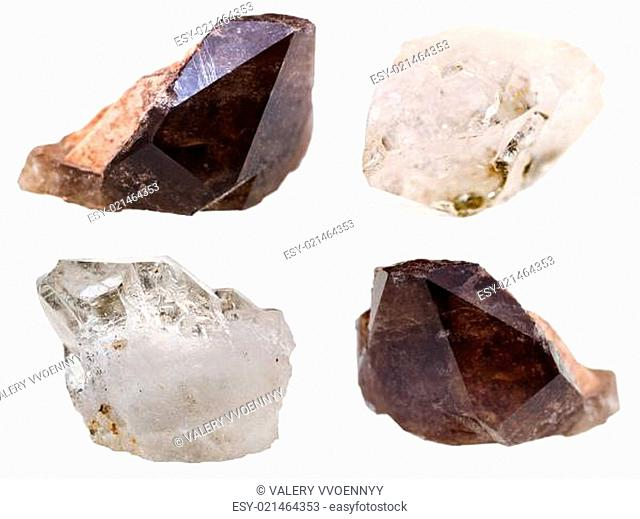 specimens of quartz crystals