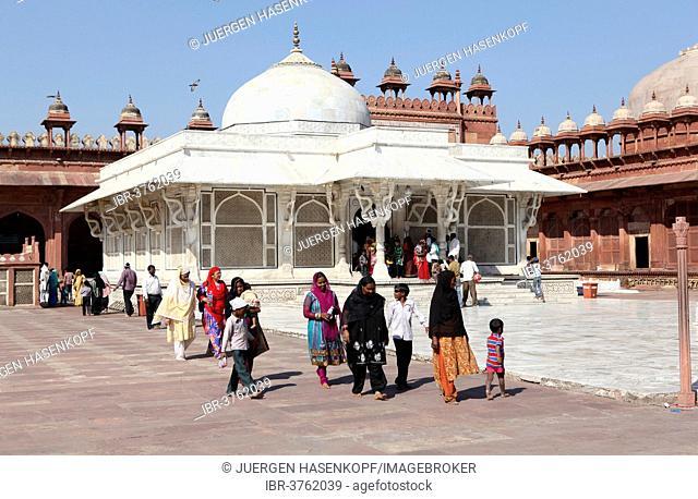Grave of Shaikh Alauddin Chisti, Jama Masjid Mosque, UNESCO World Cultural Heritage Site, Fatehpur Sikri, Uttar Pradesh, India