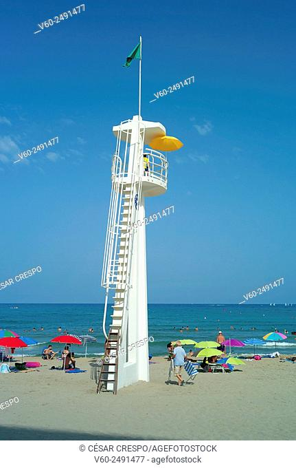 -Tower of Guard in El Campello Beach- Alicante Spain