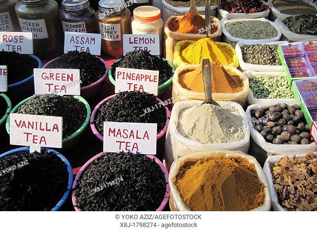India, Goa region, Goa, Anjuna beach, spices