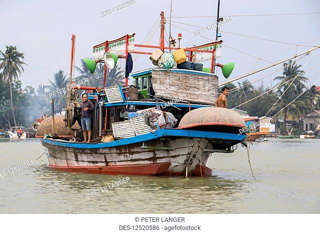 Fishing boat; Hoi An Ancient Town, Quang Nam, Vietnam