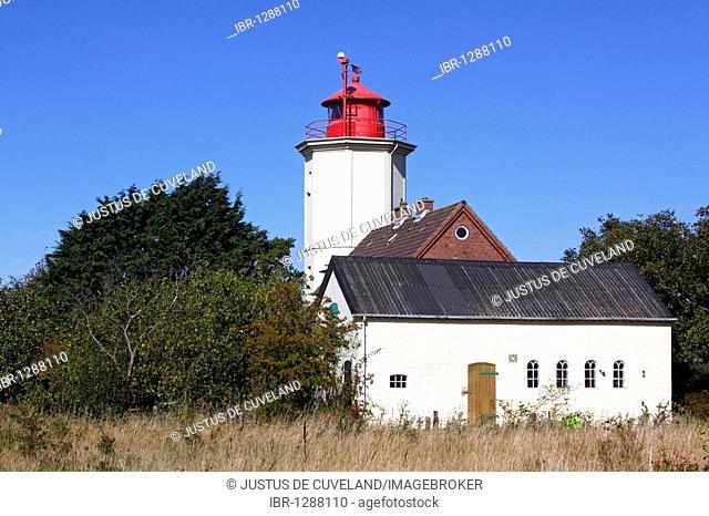 Lighthouse in Westermarkelsdorf, island Fehmarn, Ostholstein district, Schleswig-Holstein, baltic sea coast, Germany