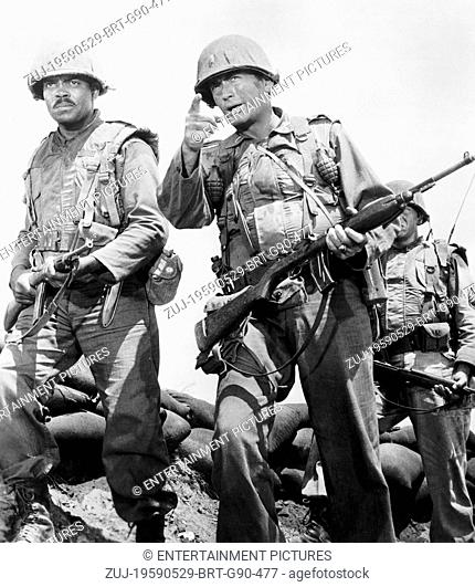 RELEASE DATE: May 29, 1959. MOVIE TITLE: Pork Chop Hill. STUDIO: Melville Productions. PLOT: American GI's must retake a barren hill in Korea that has been...