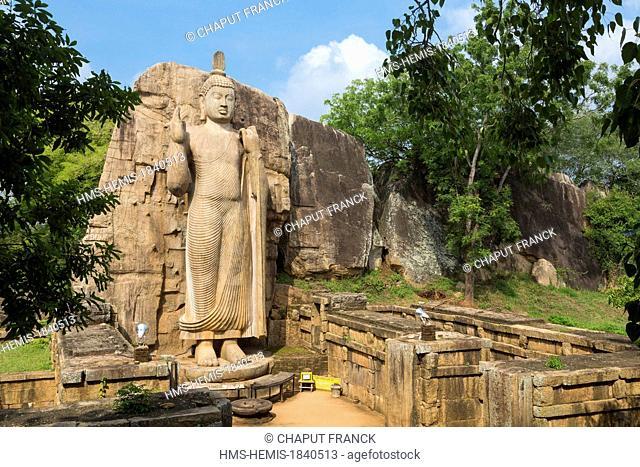 Sri Lanka, North-Central province, Anuradhapura district, Aukana, Aukana Buddha statue