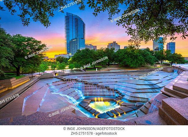The Fort Worth Water Gardens, built in 1974, is located on the south end of downtown Fort Worth between Houston and Commerce Streets next to the Fort Worth...