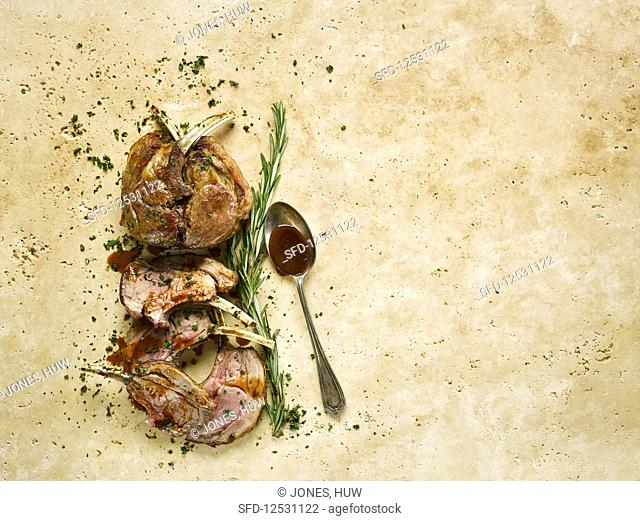 Lamb Guard Of Honour With Rosemary Port Sauce