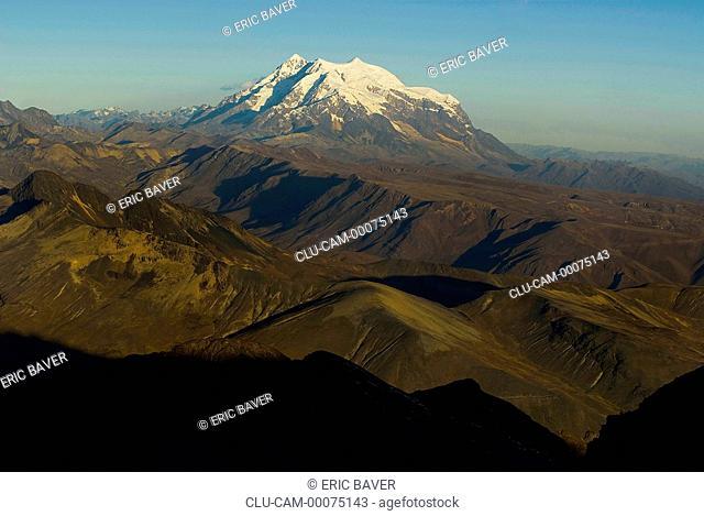Nevado Illimani, Department of La Paz, La Paz, Bolivia, South America