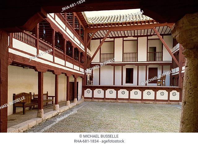 The 16th century theatre at Almagro in Castile la Mancha Castilla la Mancha, Spain, Europe