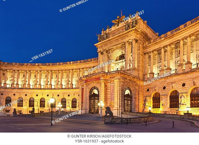 The Hofburg Palace in Vienna was on 13 Century until 1918 with interruptions, the residence of the Habsburgs in Vienna Since 1945