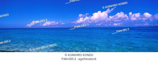 Ocean with Clouds, Okinawa, Japan