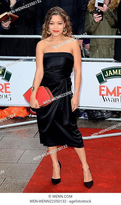 Jameson Empire Film Awards 2015 at the Grosvenor House Hotel, Park Lane, London Featuring: Antonia Thomas Where: London, United Kingdom When: 29 Mar 2015...