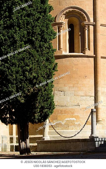Detail of Old Cathedral of Salamanca, city declarated World Heritage by UNESCO  Castilla y León  Spain