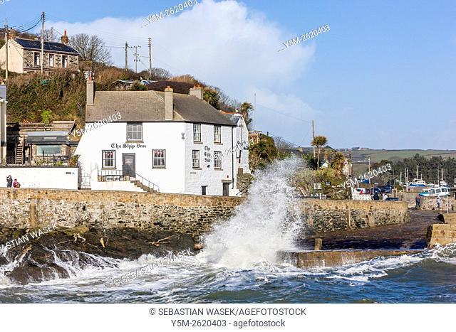Porthleven harbour, Cornwall, England, UK, Europe