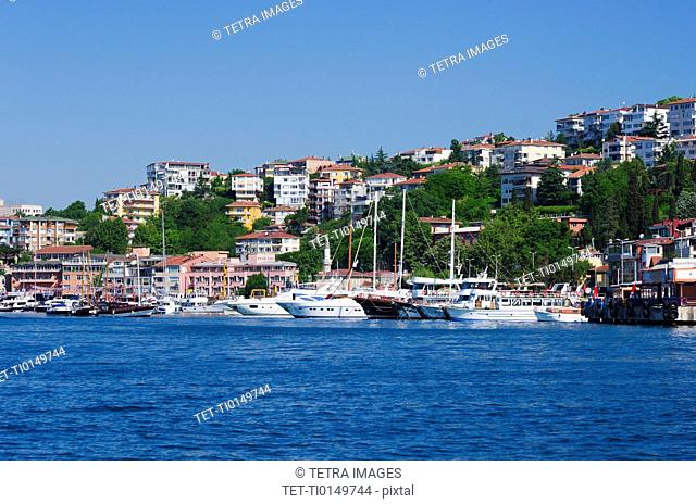 Turkey, Istanbul, Boats on the Bosphorus