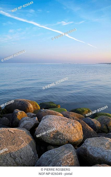 Stones on the beach, Smaland, Sweden