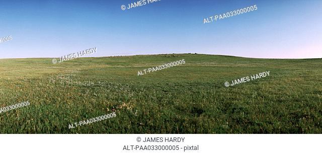 Mongolia, plain, panoramic view