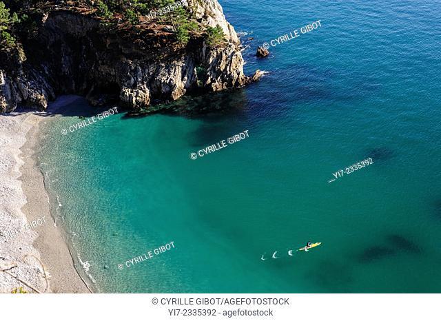 France, Finistere, Iroise Sea, Presqu'ile de Crozon, Cap de la Chevre, Pointe de Saint Hernot