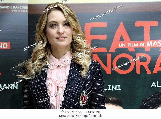 "Actress Carolina Crescentini attends at """"Beata Ignoranza"""" photocall. Rome (Italy), february 20, 2017"