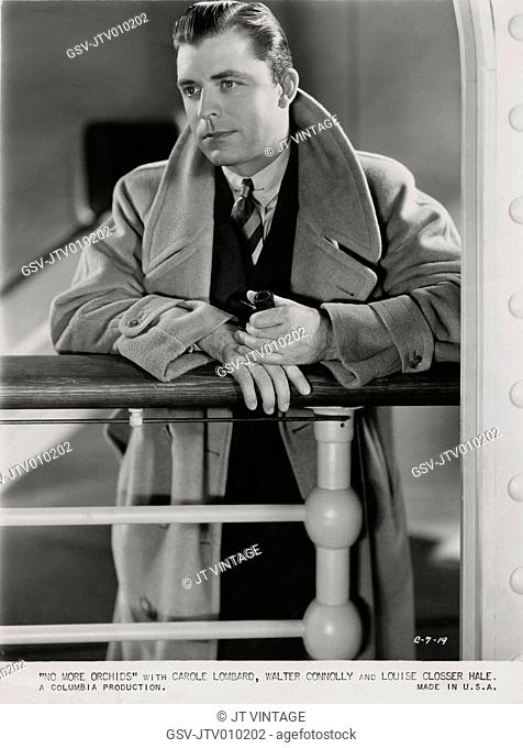 Lyle Talbot, Publicity Portrait on-set of the Film, No More Orchids, Columbia Pictures, 1932