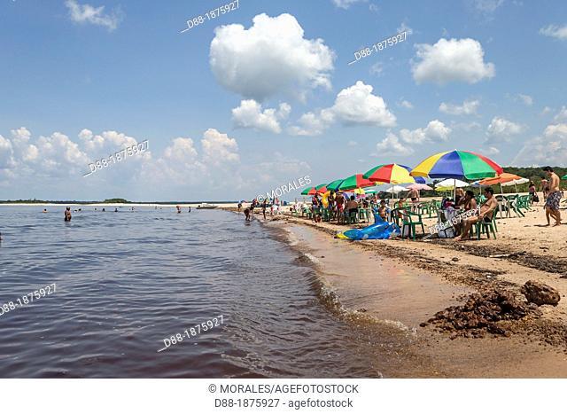 Açutuba beach along the Rio Negro, Amazon river basin, Amazonas state, Brazil, South America
