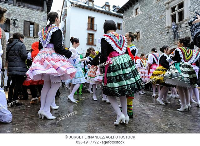 Carnival of Bielsa  A traditional festival that has been taking place over the centuries surviving even the prohibition during Franco's dictatorship  Bielsa