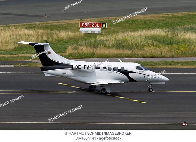 Very Light Jet, corporate jet, Embraer EMB-500 Phenom 100 on the manoevering area, Duesseldorf Airport, North Rhine-Westphalia, Germany, Europe