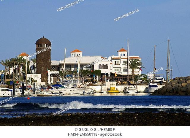 Spain, Canary islands, Fuerteventura island, little harbour of Costa de Antigua on west coast of island