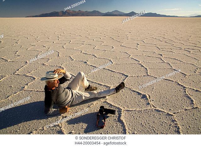 Salt lake Uyuni, biggest salt lake of South America