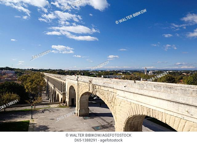 France, Languedoc-Roussillon, Herault Department, Montpellier, St-Clement Aqueduct