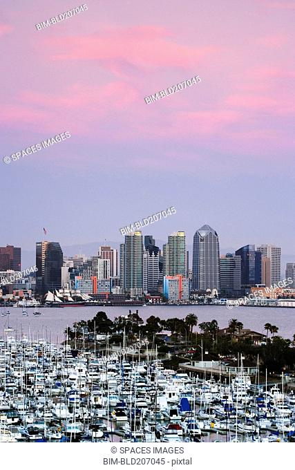 San Diego Skyline and Marina at Dusk