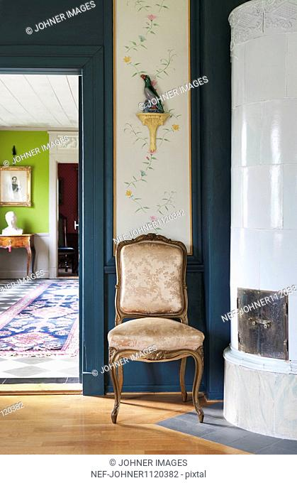 Antique chair in living room